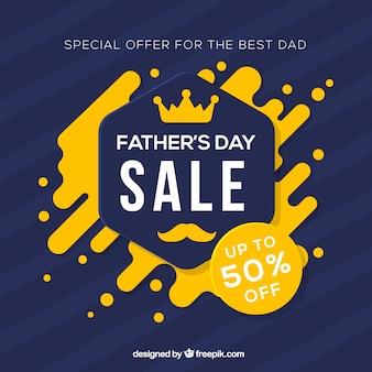 Modello di vendita di giorno del padre con forme astratte