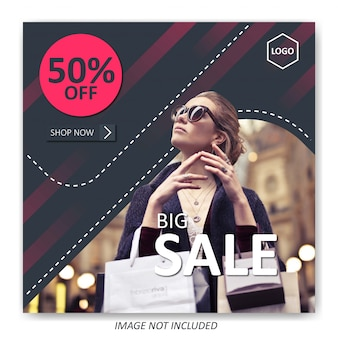 Modello di vendita di moda per post di social media