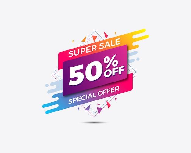 Modello di vendita di offerte speciali. vendita di banner.