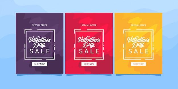 Modello di vendita di san valentino