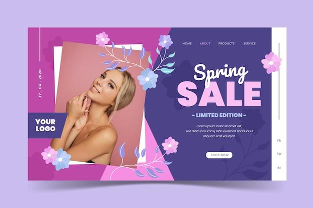 Modello di vendita primavera social media