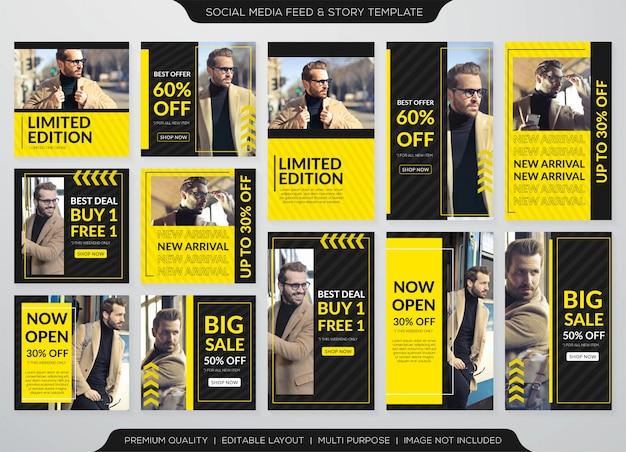 Modello di vendita promozione banner post e feed