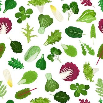 Modello di verdure a foglia
