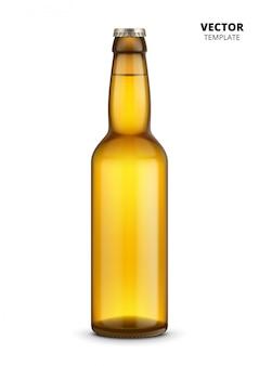 Modello di vetro di bottiglia di birra isolato