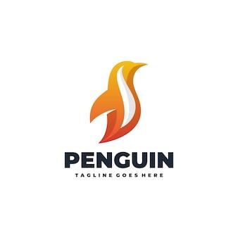 Modello di vettore del pinguino astratto