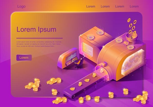 Modello di vettore del servizio online di automazione delle vendite