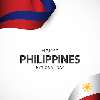 Modello di vettore di festa dell'indipendenza delle filippine