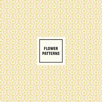 Modello di vettore di fiori per decorare sfondo di pagina web e texture di superficie