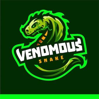 Modello di vettore di gioco logo mascotte viper