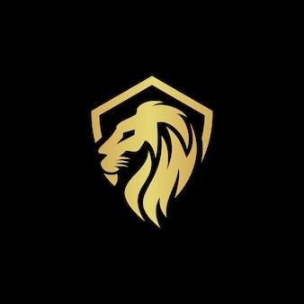 Modello di vettore di logo del leone