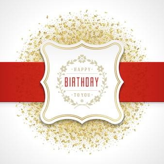 Modello di vettore di progettazione della cartolina d'auguri di buon compleanno.