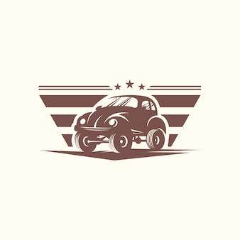 Modello di vettore di progettazione di auto classico logo