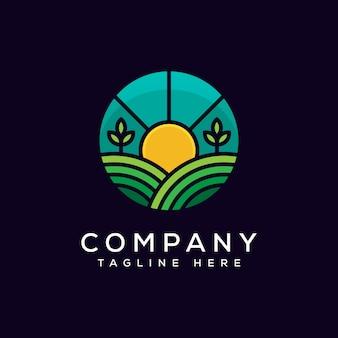 Modello di vettore di progettazione di logo di agricoltura