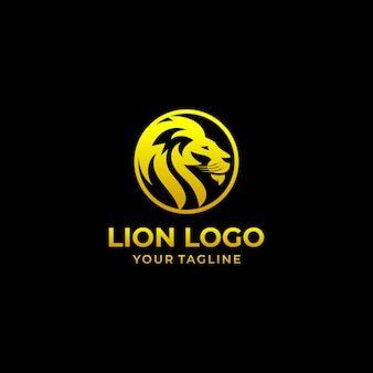 Modello di vettore di progettazione di logo di leone