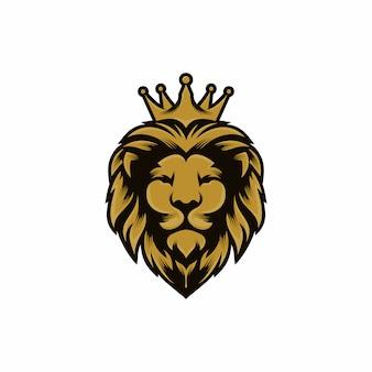 Modello di vettore di progettazione di logo di re leone
