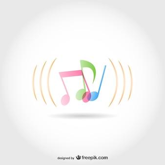 Modello di vettore note musicali