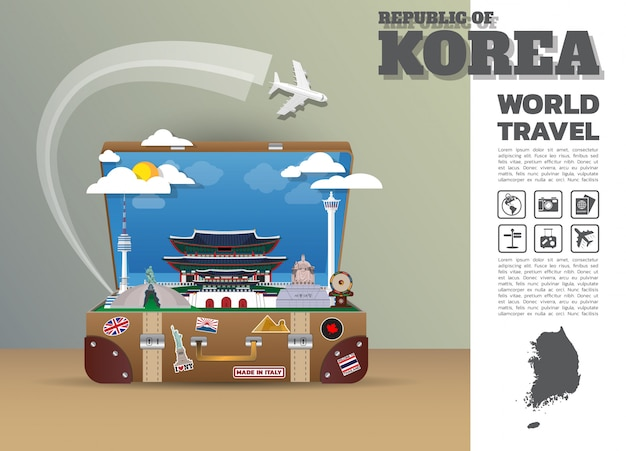Modello di viaggio della corea del sud