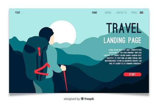 Modello di viaggio della pagina di destinazione