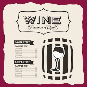 Modello di vino menu