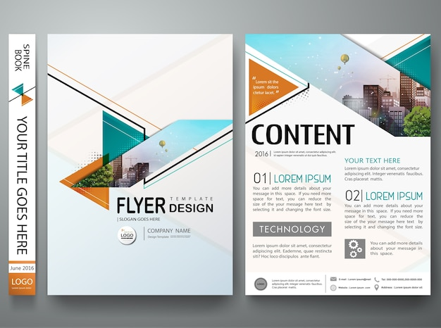 Modello di volantini business brochure minimal