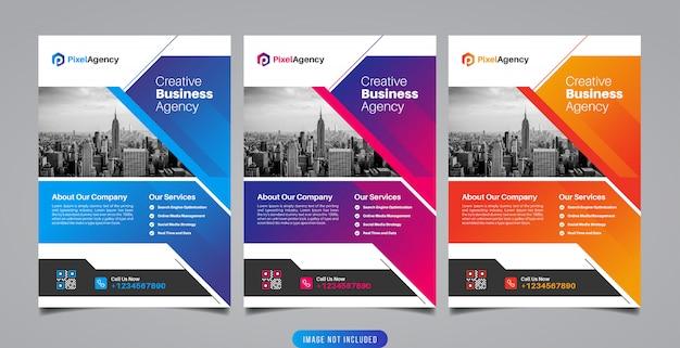 Modello di volantino agenzia creativa di affari