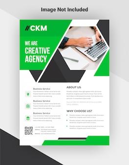 Modello di volantino agenzia creativa