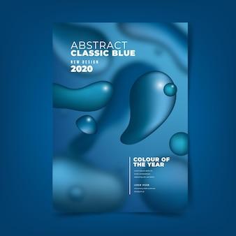 Modello di volantino astratto blu classico