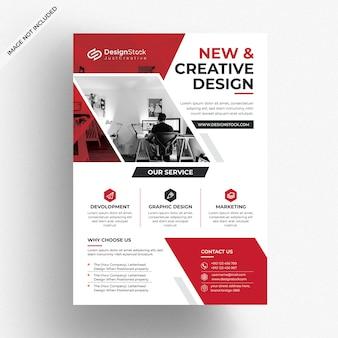 Modello di volantino aziendale creativo