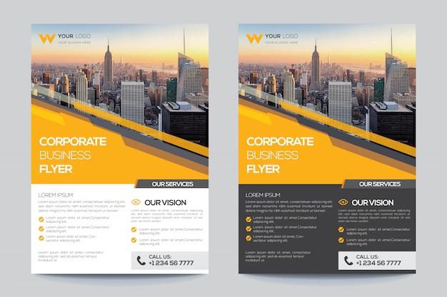 Modello di volantino aziendale per le imprese