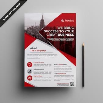 Modello di volantino aziendale | pulisca il modello dell'aletta di filatoio | flyer aziendale
