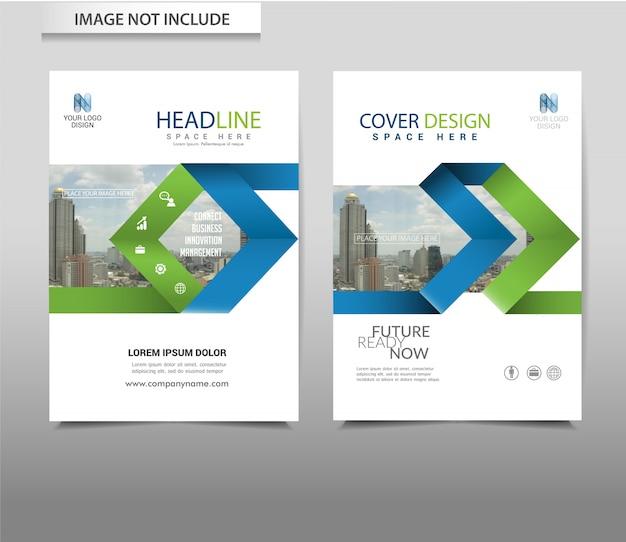Modello di volantino brochure astratto sfondo vettoriale