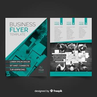 Modello di volantino business fotografico