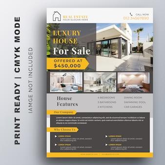 Modello di volantino business immobiliare