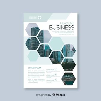 Modello di volantino business mosaico