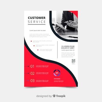 Modello di volantino business servizio clienti