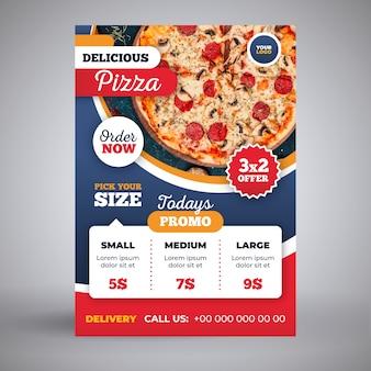 Modello di volantino consegna pizza
