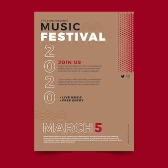 Modello di volantino del festival musicale