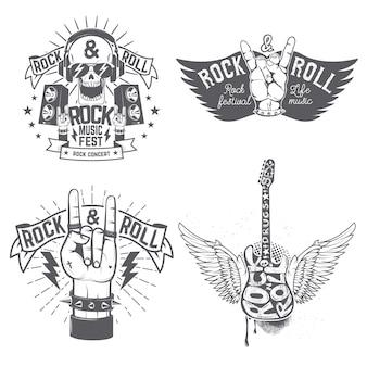 Modello di volantino del festival rock