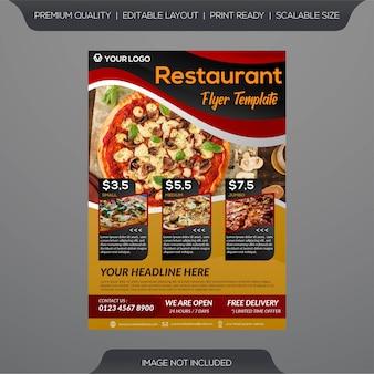 Modello di volantino del ristorante