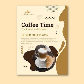 Modello di volantino della caffetteria