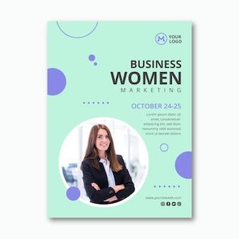 Modello di volantino della donna di affari