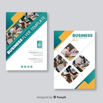 Modello di volantino di affari con immagini di mosaico