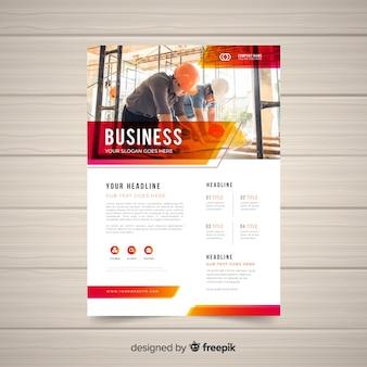 Modello di volantino di affari