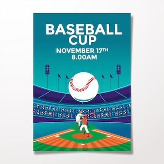 Modello di volantino di baseball vintage