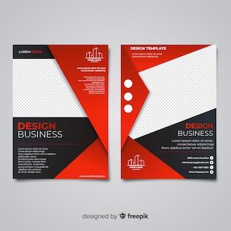 Modello di volantino di business moderno con design piatto