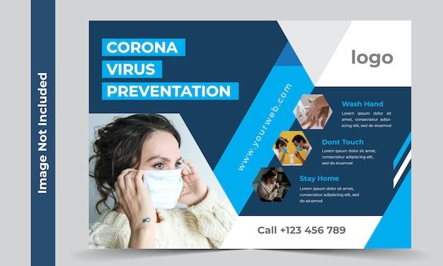 Modello di volantino di coronavirus