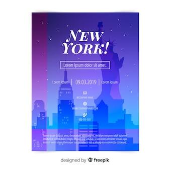 Modello di volantino di new york