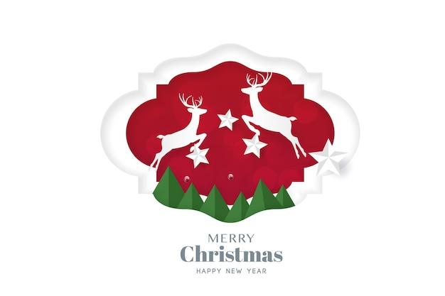 Modello di volantino di tipografia cartolina d'auguri di buon natale e felice anno nuovo con lettering