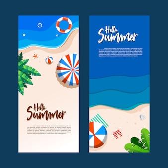 Modello di volantino di vacanze estive