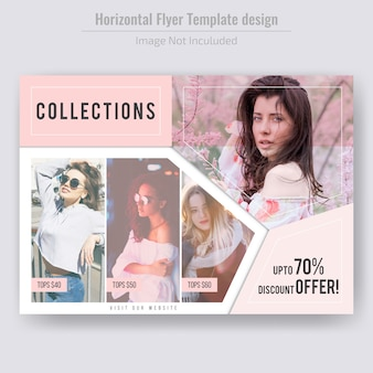 Modello di volantino di vendita orizzontale moda prodotto